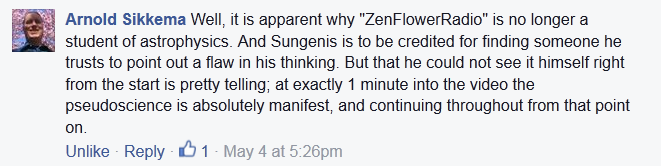 Sikkema on ZenFlowerRadio Pseudo-science